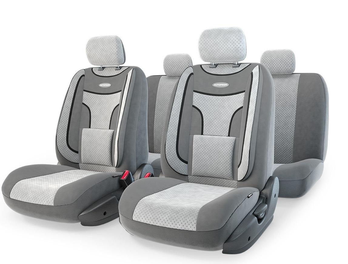 Чехол на сиденье Autoprofi Eco-1105 d.gy/l.gy (М) чехол autoprofi extra comfort black dark grey eco 1105 bk d gy m
