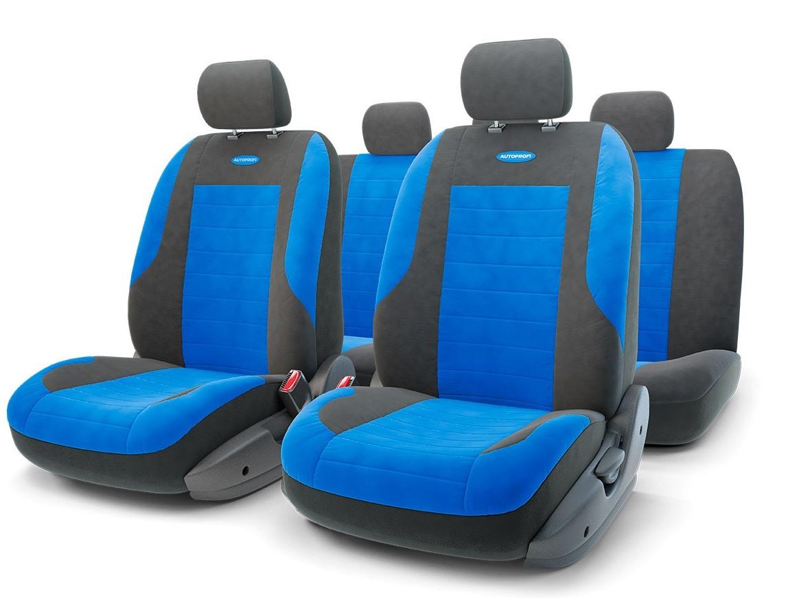 Чехол на сиденье Autoprofi Evo-1105 bk/bl (М) чехол на сиденье autoprofi gob 1105 gy romb m