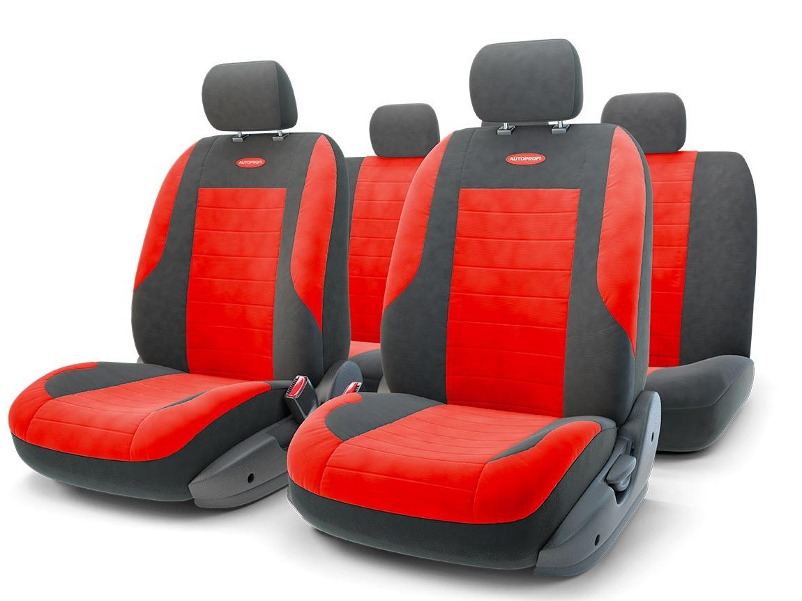 Чехол на сиденье Autoprofi Evo-1105 bk/rd (М) авточехлы autoprofi matrix формованный велюр 11 предметов чёрный красный размер м mtx 1105 bk rd m