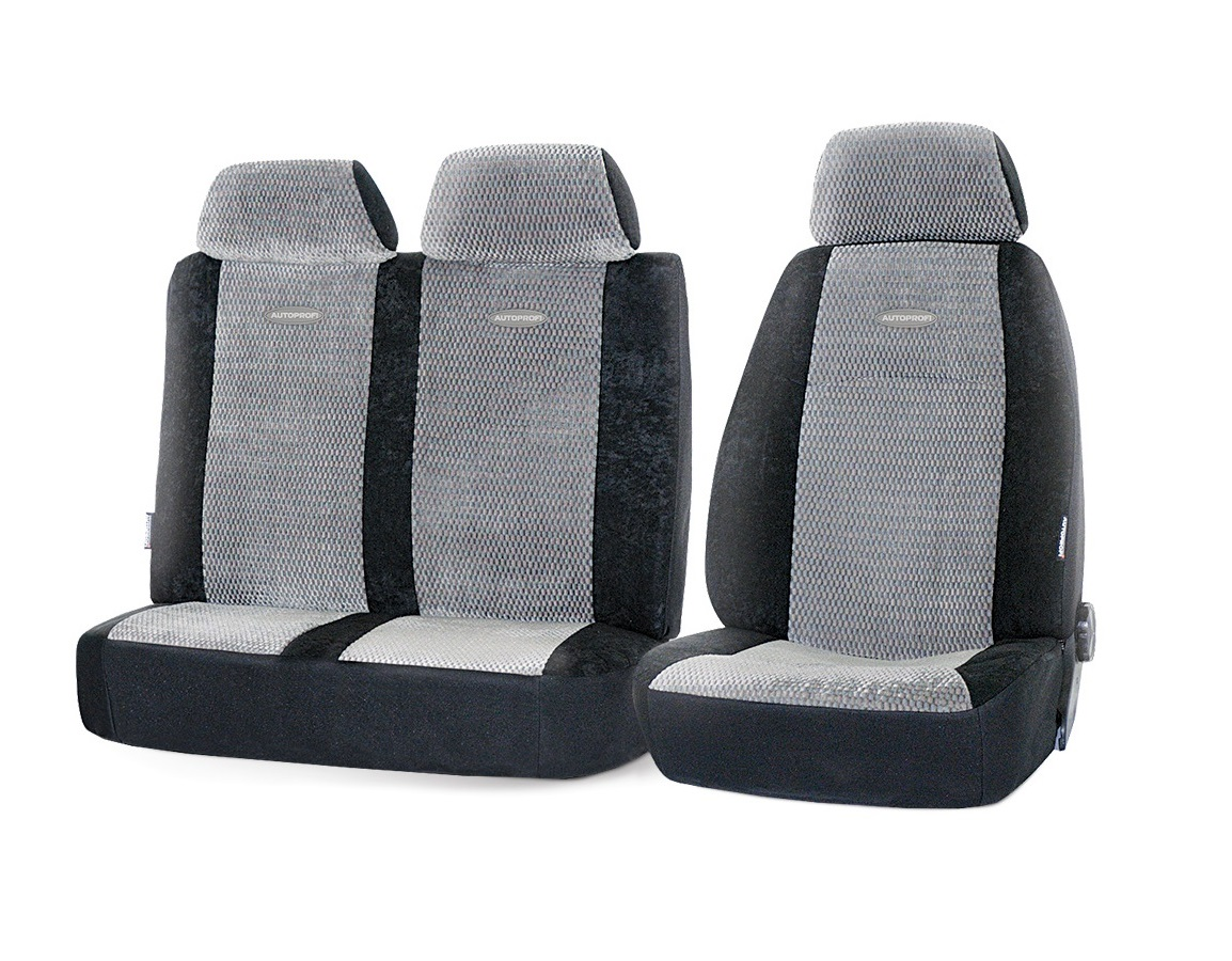 Чехол на сиденье Autoprofi Gaz-002 bk/gy чехол на сиденье autoprofi gob 1105 gy romb s