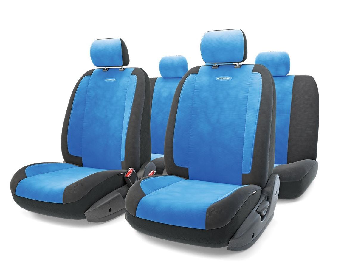 Чехол на сиденье Autoprofi Gen-1105 bk/bl (М) чехол на сиденье autoprofi gob 1105 gy romb m