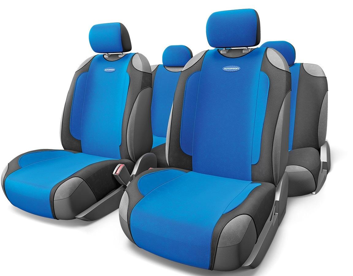 Чехол на сиденье Autoprofi Gen-805t bk/bl оплетка autoprofi sam 100 bk bl m