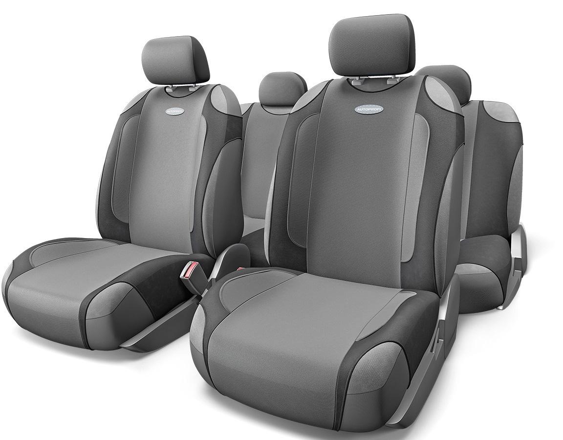 Чехол на сиденье Autoprofi Gen-805t bk/d.gy чехол на сиденье autoprofi gob 1105 gy line m