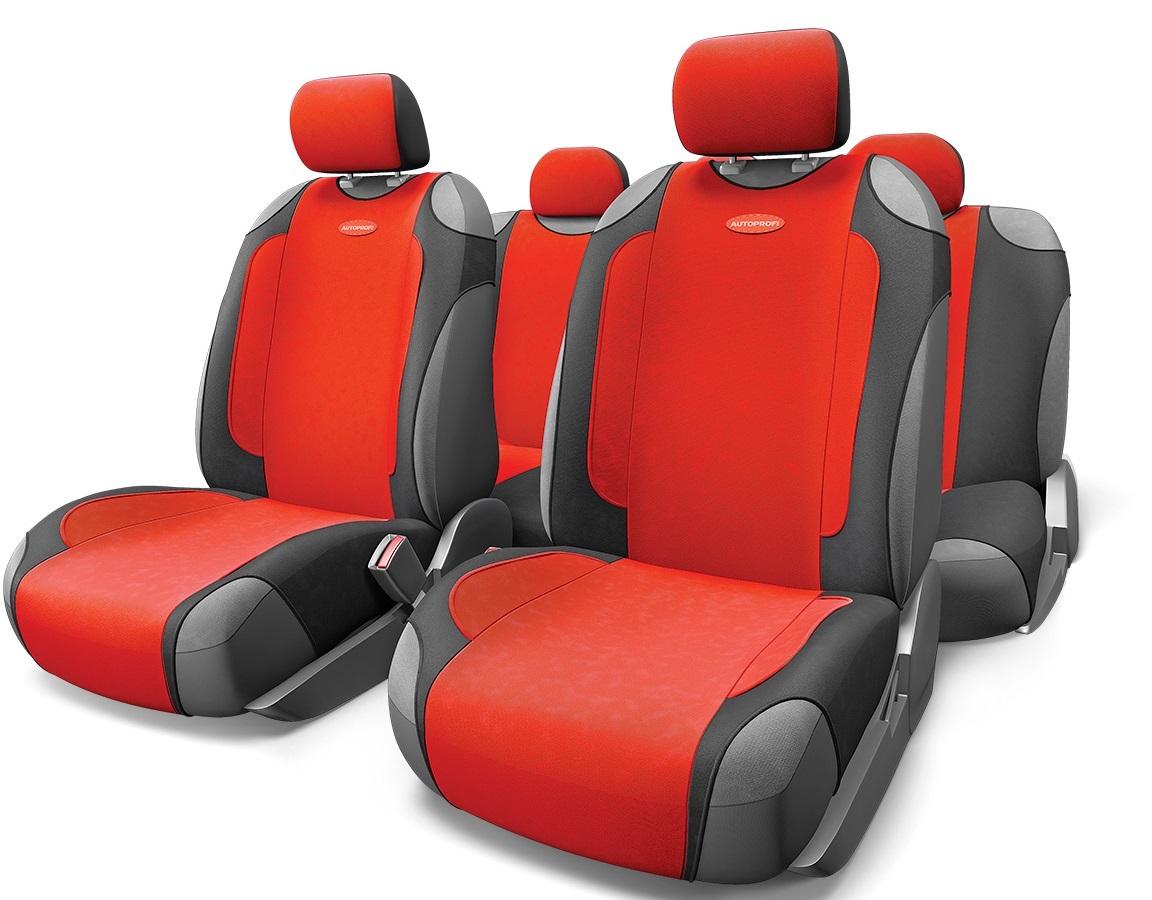 Чехол на сиденье Autoprofi Gen-805t bk/rd чехол на сиденье autoprofi gob 1105 gy line m