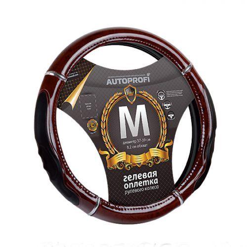 Оплетка Autoprofi Gl-1025 rd.wood (m) autoprofi оплётка для перетяжки руля autoprofi экокожа с перфорированными вставками нить игла чёрн серы