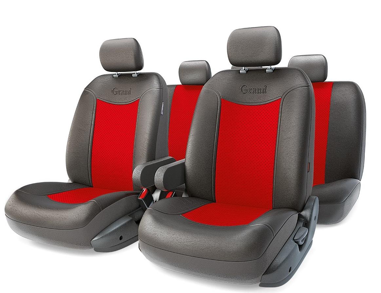 Чехол на сиденье Autoprofi Gnd-1305gf bk/rd