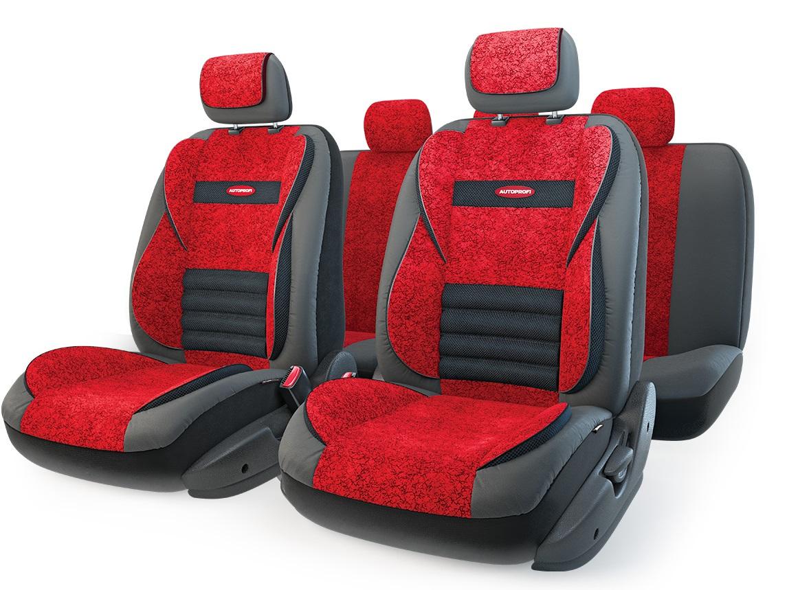 Чехол на сиденье Autoprofi Mlt-1105gv bk/rd (m) авточехлы autoprofi matrix формованный велюр 11 предметов чёрный красный размер м mtx 1105 bk rd m