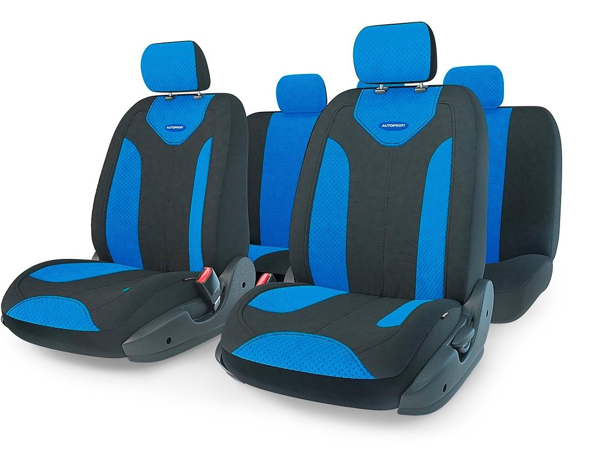Чехол на сиденье Autoprofi Mtx-1105 bk/bl (m) авточехлы autoprofi matrix формованный велюр 11 предметов чёрный красный размер м mtx 1105 bk rd m