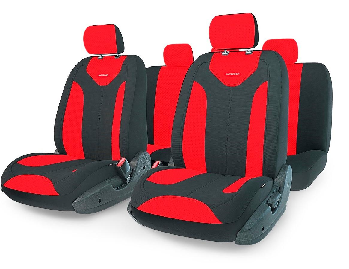 Чехол на сиденье Autoprofi Mtx-1105 bk/rd (m) авточехлы autoprofi matrix формованный велюр 11 предметов чёрный красный размер м mtx 1105 bk rd m