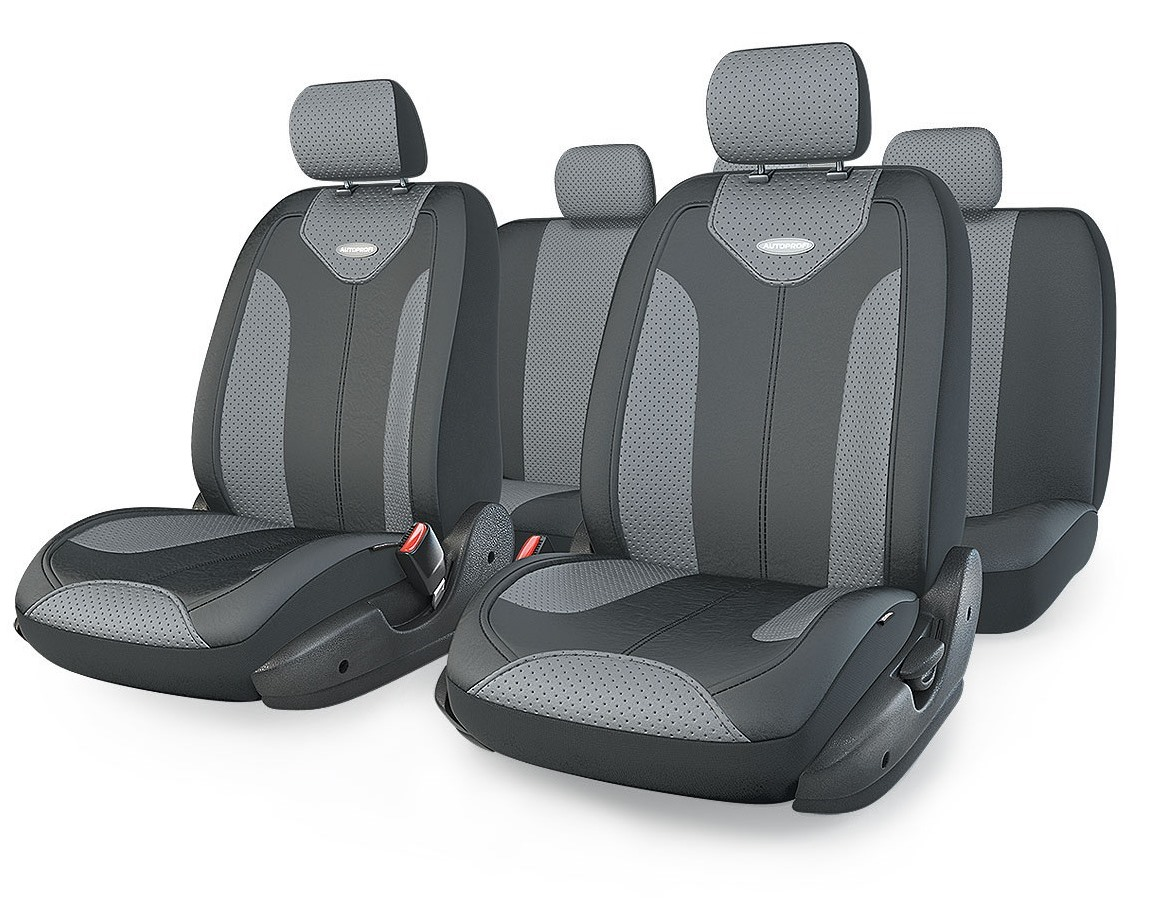 Чехол на сиденье Autoprofi Mtx-1105g bk/d.gy (m) чехол на сиденье autoprofi eco 1105 bk bl м