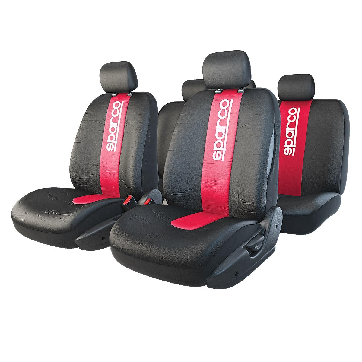 Чехол на сиденье Sparco Spc/rcn-1105 bk/rd коврики автомобильные autoprofi spc rcn 504 bk gy