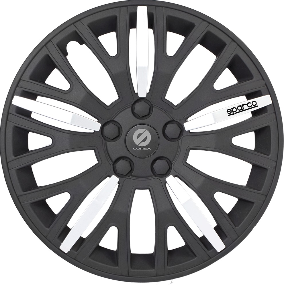 все цены на Колпаки на колёса Sparco Spc/wc-1350l bk/silver (13)