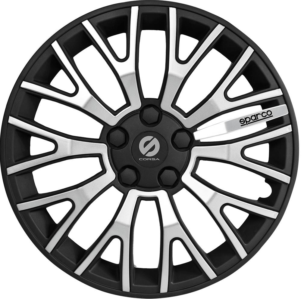 все цены на Колпаки на колёса Sparco Spc/wc-1350u bk/silver (13)