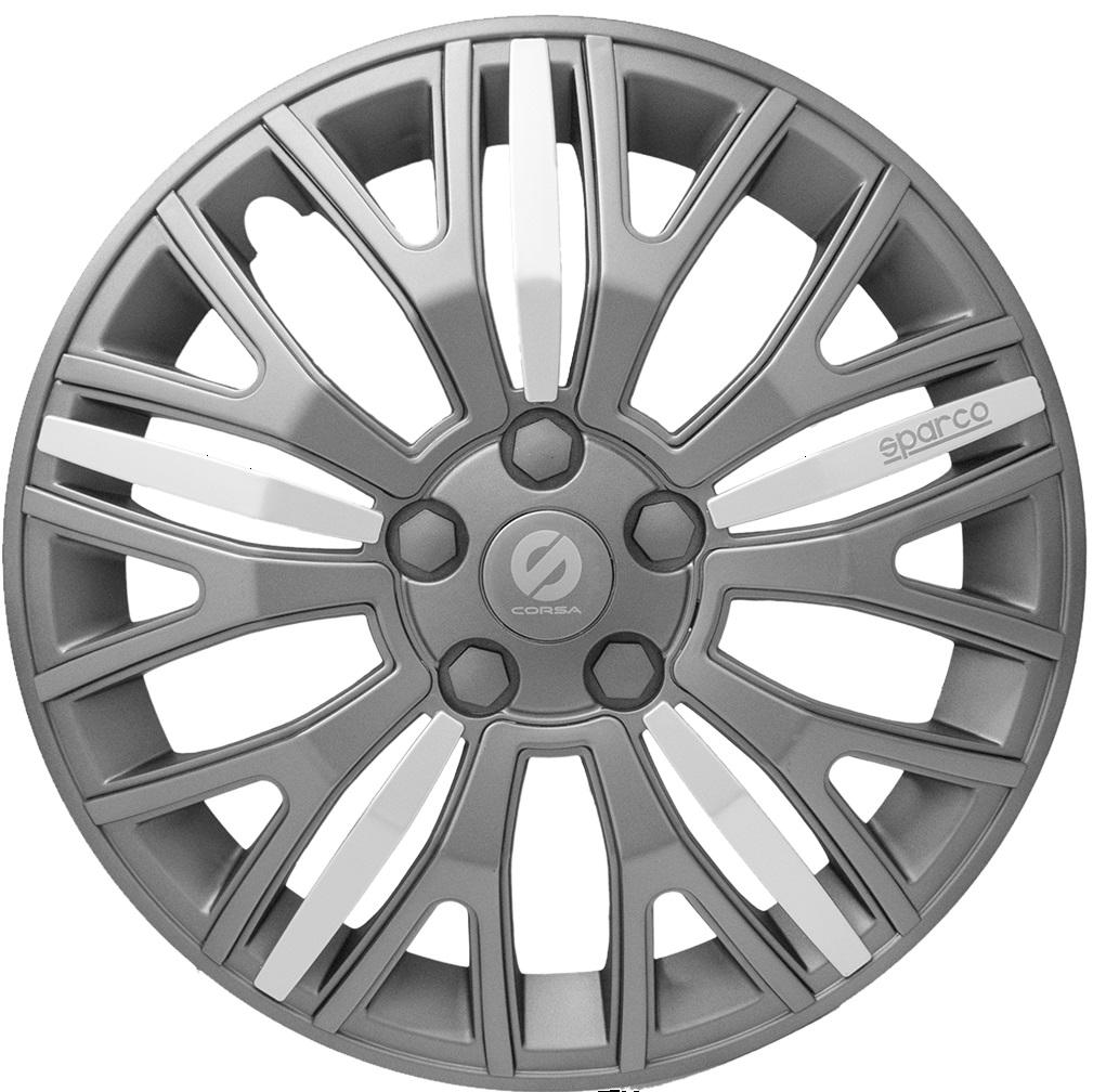 Колпаки на колёса Sparco Spc/wc-1350x gy/gy/silver (14) tokyobay t249 gy