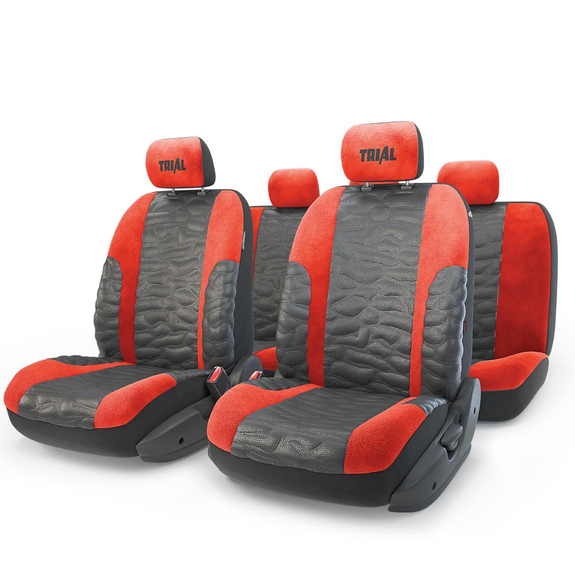 Чехол на сиденье Autoprofi Trl-1105 bk/rd (m) авточехлы autoprofi matrix формованный велюр 11 предметов чёрный красный размер м mtx 1105 bk rd m