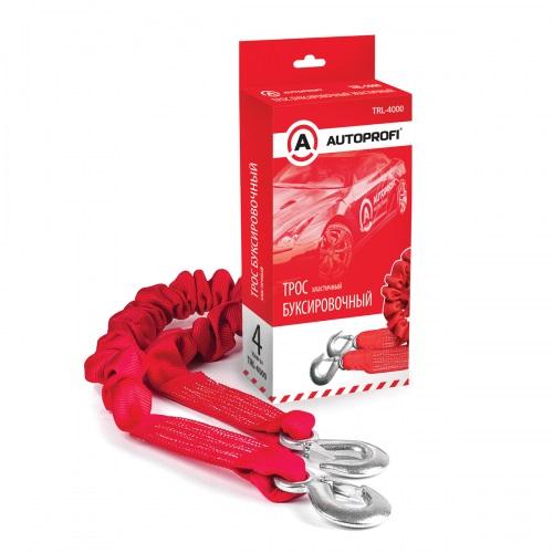 Трос буксировочный Autoprofi Trl-4000 трос буксировочный autoprofi строп лента эластичный 4т 1 5 4м 2 крюка 1 20