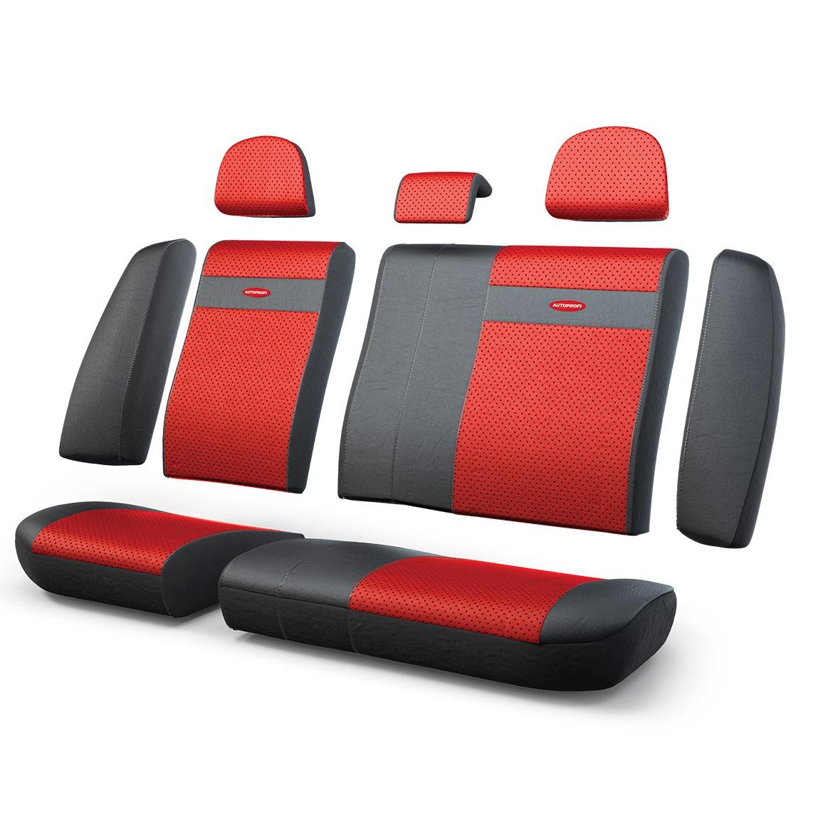 Чехол на сиденье Autoprofi Trs-002g bk/rd