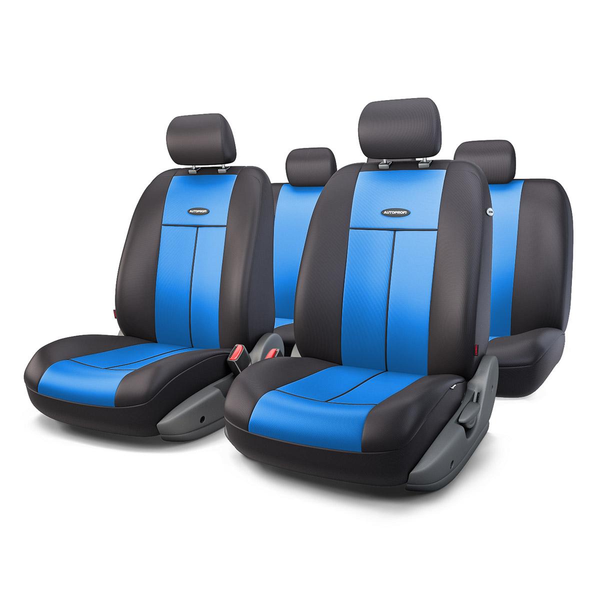 Чехол на сиденье Autoprofi Tt-902p bk/bl чехол на сиденье autoprofi eco 1105 bk bl м