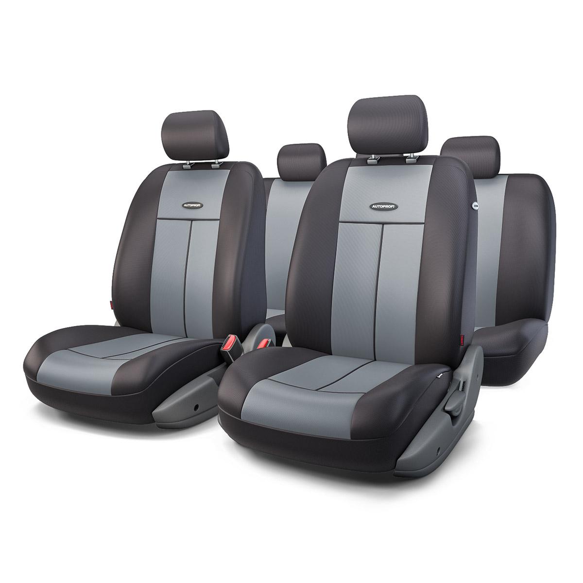 Чехол на сиденье Autoprofi Tt-902p bk/d.gy чехлы на сиденья autoprofi автомобильные чехлы tt tt 902m bk bl