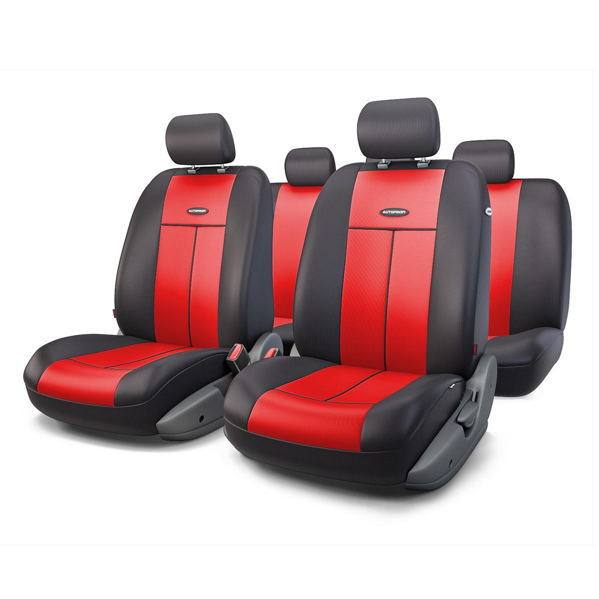 Чехол на сиденье Autoprofi Tt-902p bk/rd чехол на сиденье autoprofi r 902p bl