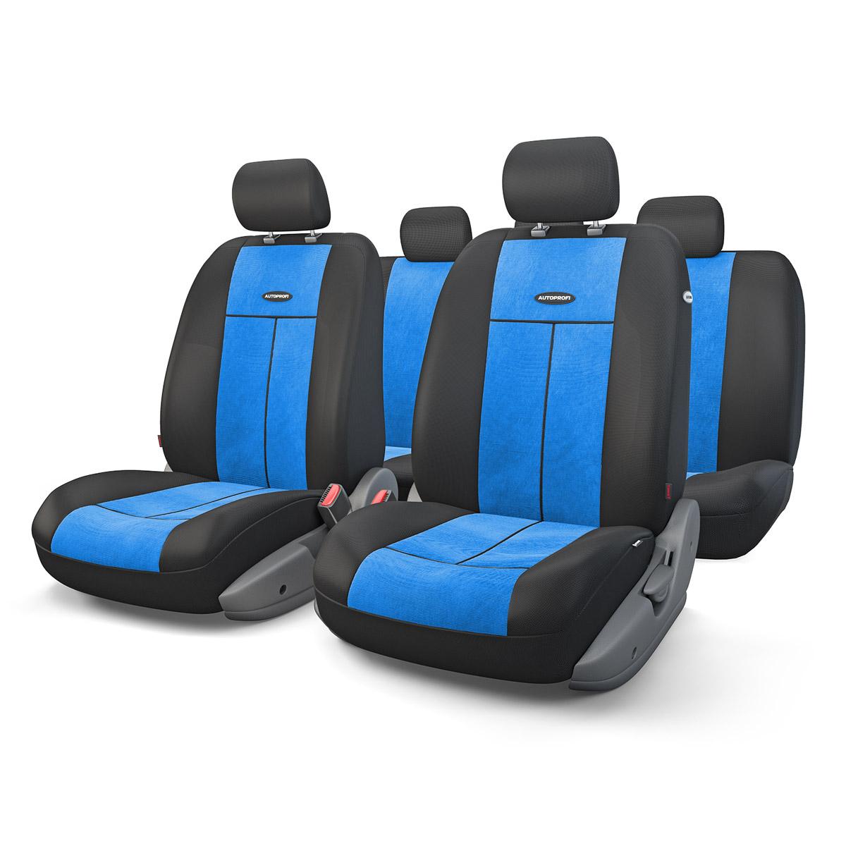 Чехол на сиденье Autoprofi Tt-902v bk/bl аксессуары для автомобиля autoprofi автомобильные чехлы tt airbag tt 902j 9 предметов
