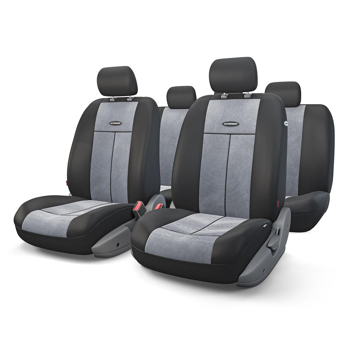 Чехол на сиденье Autoprofi Tt-902v bk/d.gy аксессуары для автомобиля autoprofi автомобильные чехлы tt airbag tt 902j 9 предметов