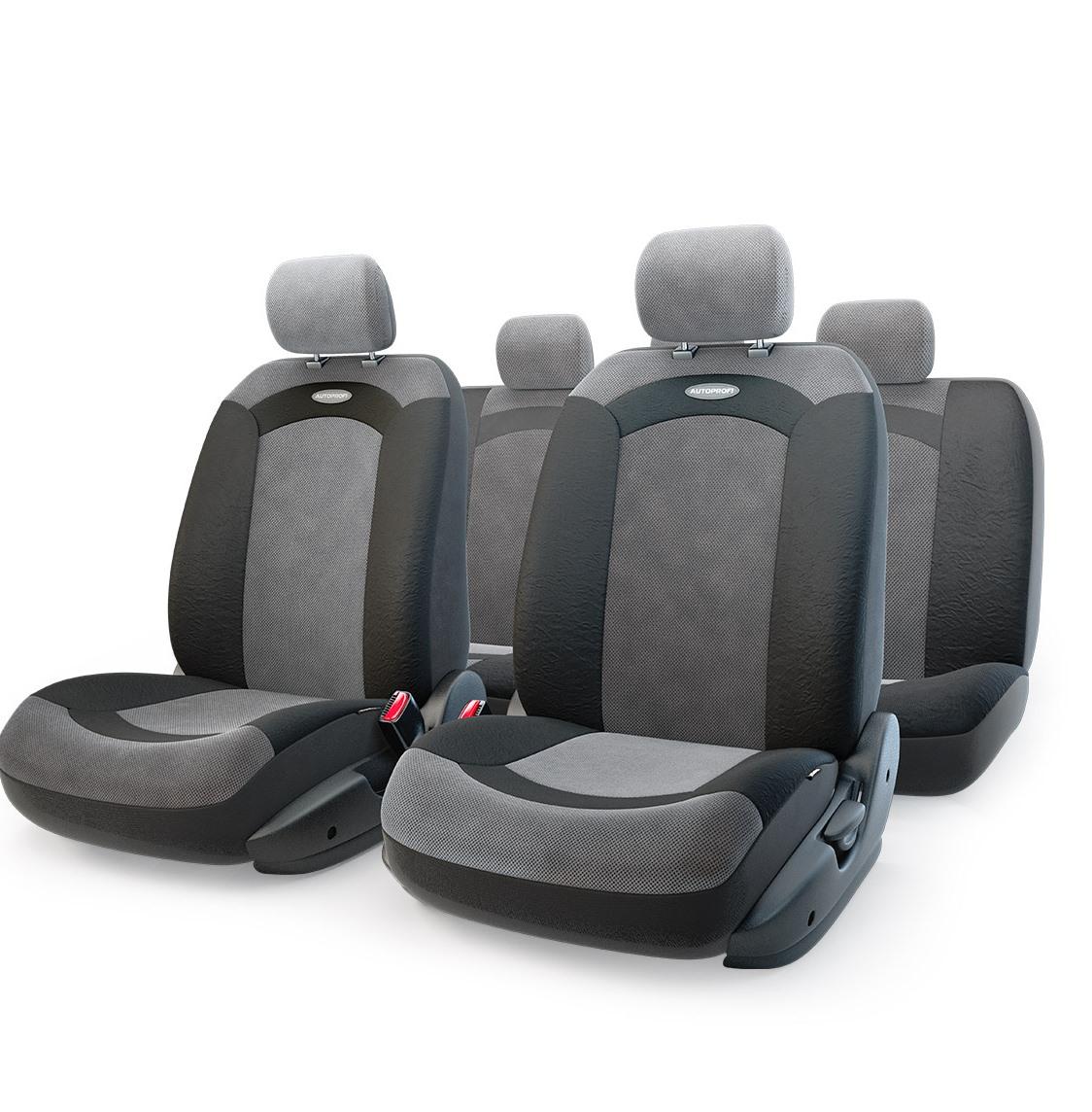 Чехол на сиденье Autoprofi Xtr-803 bk/bk (m) чехол на сиденье autoprofi gob 1105 gy line m