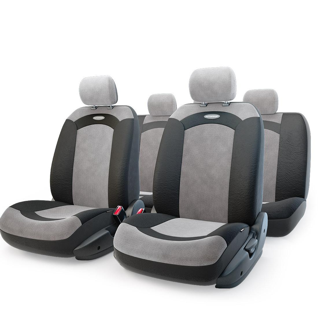 Чехол на сиденье Autoprofi Xtr-803 bk/gy (m) чехол autoprofi comfort combo black dark grey cmb 1105 bk d gy m