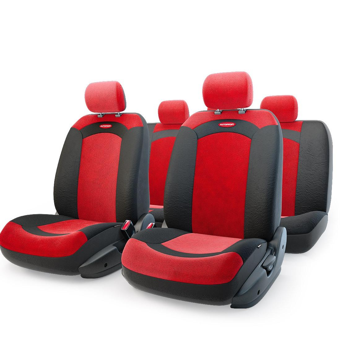 Чехол на сиденье Autoprofi Xtr-803 bk/rd (m) чехол на сиденье autoprofi gob 1105 gy line m