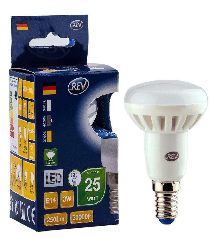 Лампа светодиодная Rev ritter 32362 4 лампочка rev led r39 e14 3w 4000k холодный свет 32362 4