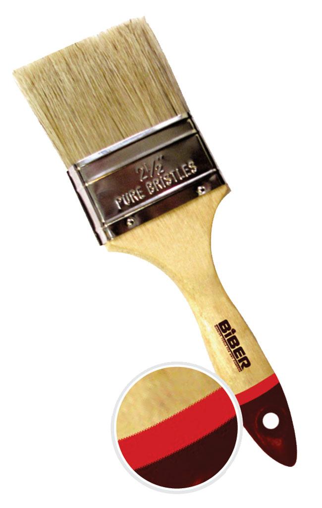 Кисть флейцевая Biber 2025 плоская кисть kraftool klassik 1 01013 25