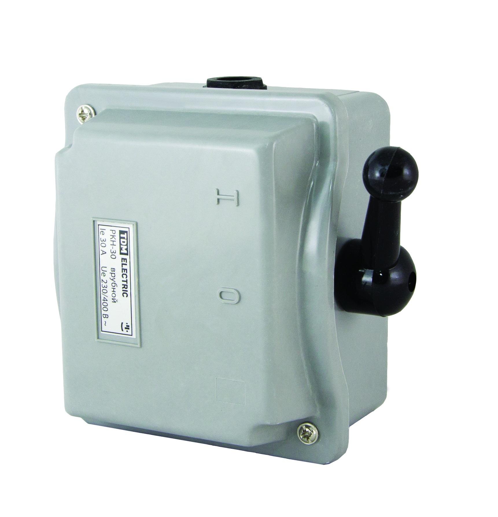 Рубильник ТДМАвтоматические выключатели<br>Номинальный ток: 15, Тип выключателя: рубильник, Количество полюсов: 3, Степень защиты от пыли и влаги: IP 40<br>