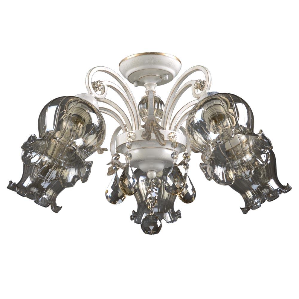 Люстра МАКСИСВЕТЛюстры<br>Назначение светильника: для гостиной,<br>Стиль светильника: классика,<br>Тип: потолочная,<br>Материал плафона: стекло,<br>Материал арматуры: металл,<br>Длина (мм): 620,<br>Ширина: 620,<br>Высота: 370,<br>Количество ламп: 5,<br>Тип лампы: накаливания,<br>Мощность: 40,<br>Патрон: Е27,<br>Цвет арматуры: бежевый<br>