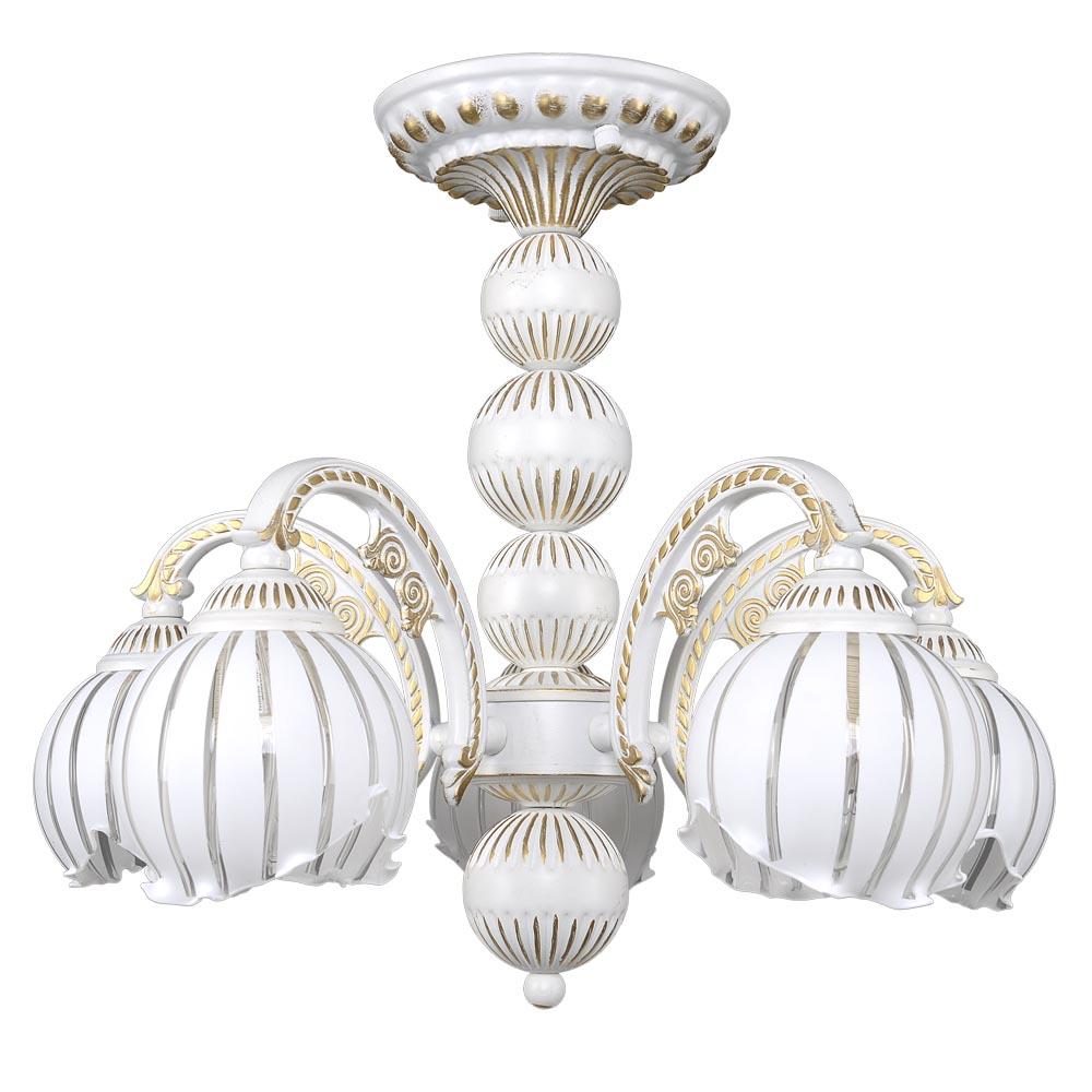 Люстра МАКСИСВЕТ 2-4140-5-whs Е14 lucesolara люстра lucesolara 8001 5s цоколь е14 40w gold cream металл стекло 5 ламп