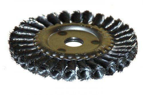 Кордщетка ЭНКОР плоская 200мм для УШМ витая сталь (51587) кордщетка edge плоская 180мм для ушм витая сталь 813010013