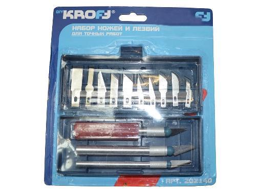 Набор ножей по дереву KROFT 202140 для точных работ 16 шт
