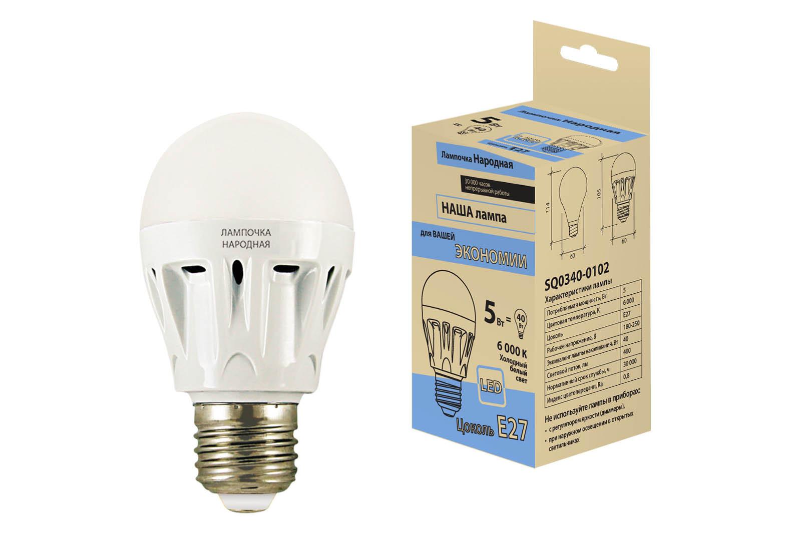 Лампа светодиодная Tdm Sq0340-0102