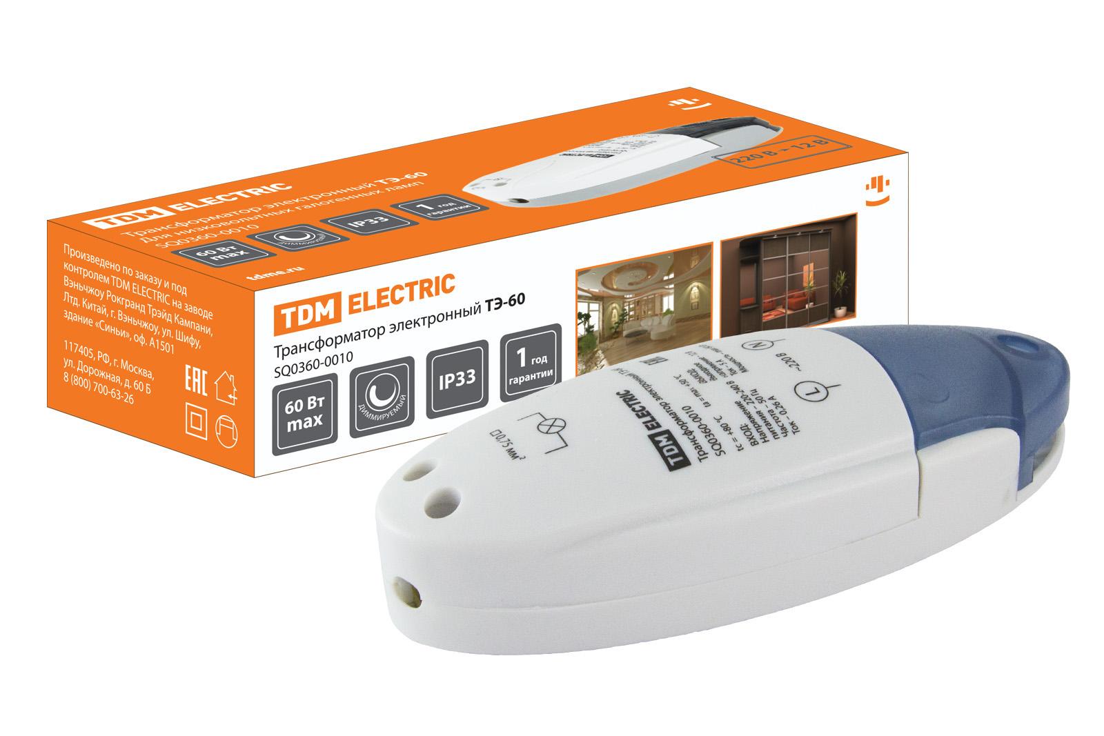 Трансформатор Tdm Sq0360-0010 электронный трансформатор дроссель tdm тэ 150 sq0360 0012