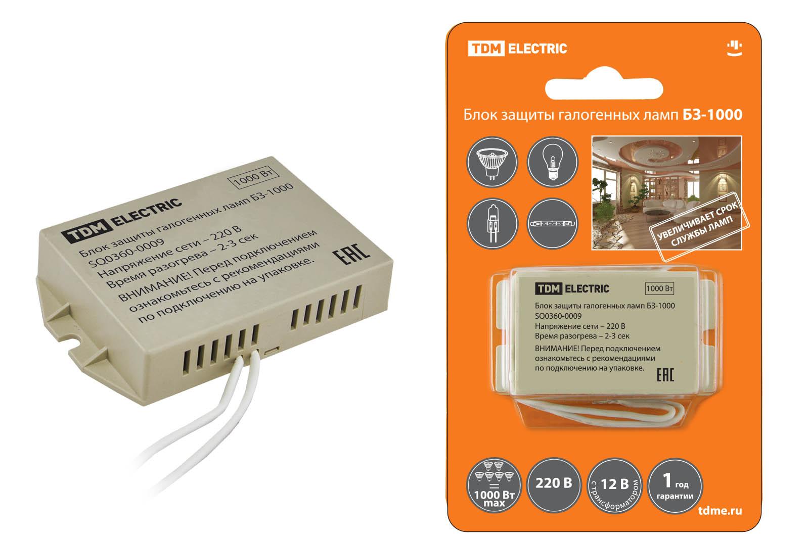 Блок защиты Tdm Sq0360-0009 электронный трансформатор дроссель tdm тэ 150 sq0360 0012