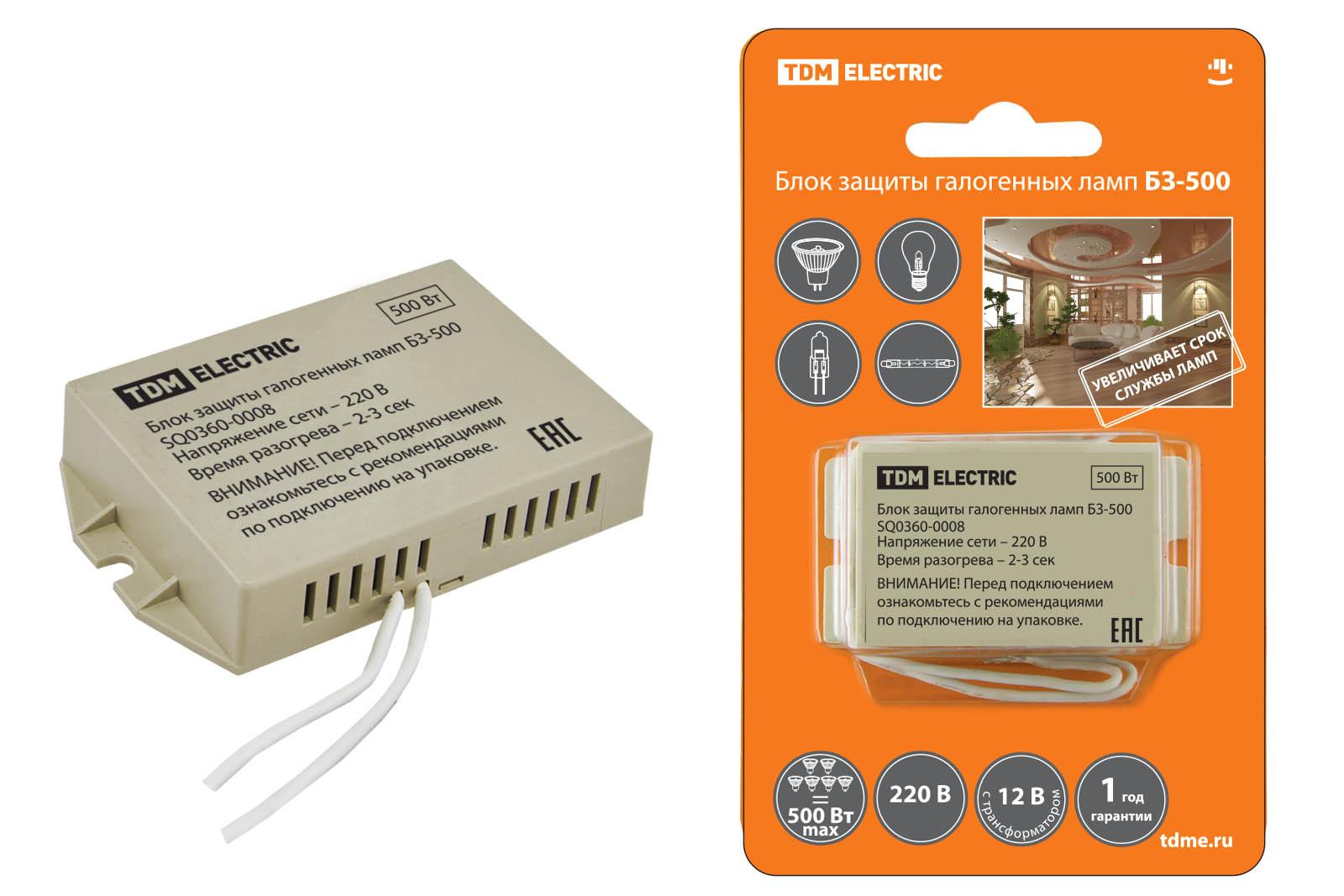 Блок защиты Tdm Sq0360-0008 электронный трансформатор дроссель tdm тэ 150 sq0360 0012
