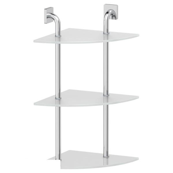 Полка ElluxАксессуары для ванной комнаты<br>Назначение аксессуара: полка,<br>Цвет покрытия: хром,<br>Материал: металл,<br>Высота: 619,<br>Ширина: 301,<br>Глубина: 301,<br>Способ крепления: на стену<br>