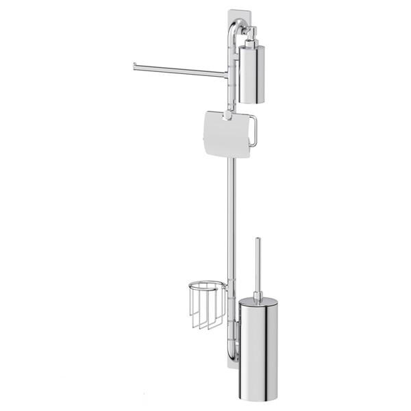 Штанга Ellux Avantgarde ava 079 держатель туалетной бумаги с крышкой и освежителя ellux avantgarde хром ava 069