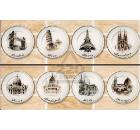 Бордюр керамический INTERCERAMA БШ51031 Madera Светло-коричневый 18шт