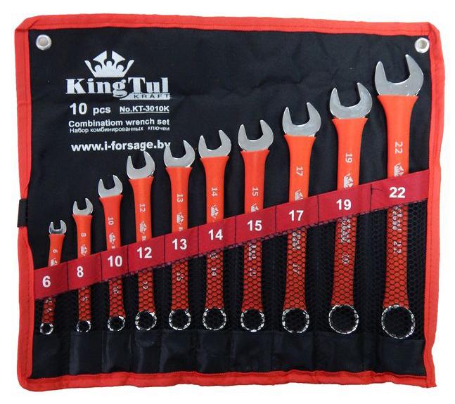 Набор ключей Kingtul 10240/kt-3010k (6 - 22 мм)  набор инструмента kingtul kt26