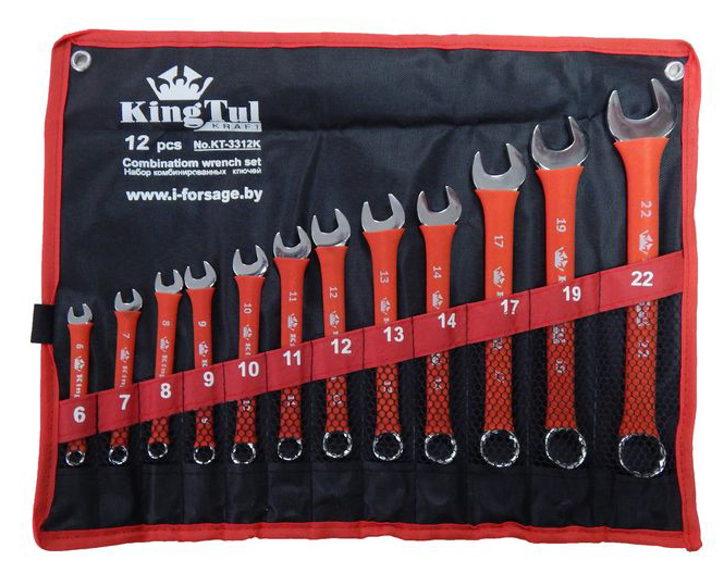 Набор ключей Kingtul 10243/kt-3312k (6 - 22 мм) набор инструмента kingtul kraft kt 3012k
