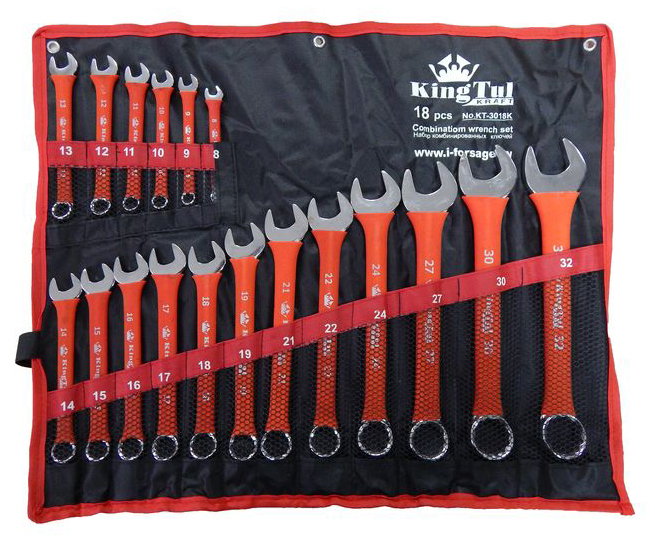 Набор ключей Kingtul 10246/kt-3018k (8 - 32 мм) набор инструмента kingtul kraft kt 3012k