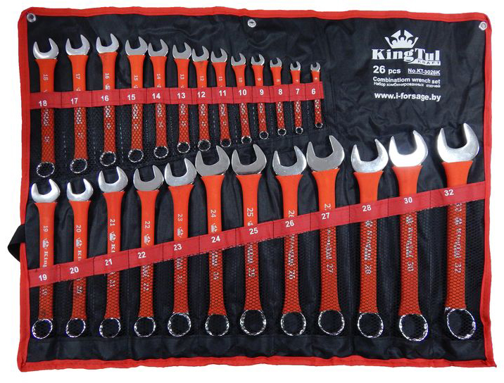 Набор ключей Kingtul 10247/kt-3026k (6 - 32 мм) набор инструмента kingtul kt26