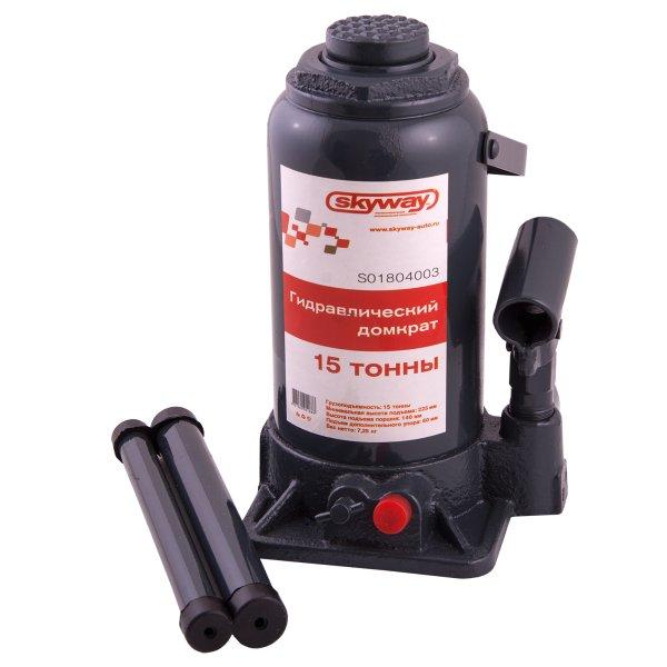 Домкрат Skyway S01804003 домкрат гидравлический бутылочный kraftool 8т double ram 43463 8