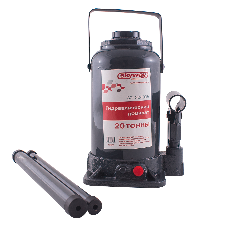 Домкрат Skyway S01804005 домкрат гидравлический бутылочный kraftool 8т double ram 43463 8