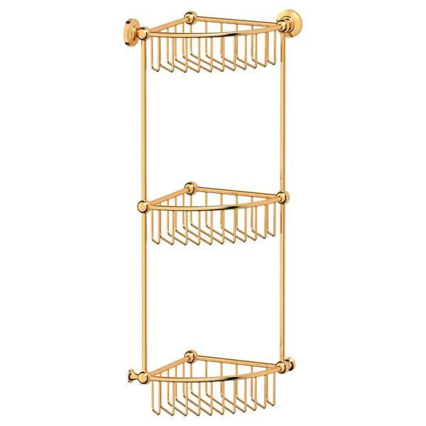 Полка 3scАксессуары для ванной комнаты<br>Назначение аксессуара: полка,<br>Цвет покрытия: золото,<br>Материал: металл,<br>Высота: 592,<br>Ширина: 232,<br>Глубина: 232,<br>Способ крепления: на стену<br>